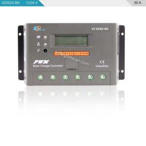 شارژ کنترلر خورشیدی 30 آمپر 24 ولت