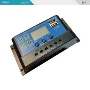 شارژ کنترلر خورشیدی 20 آمپر 24 ولت PWM