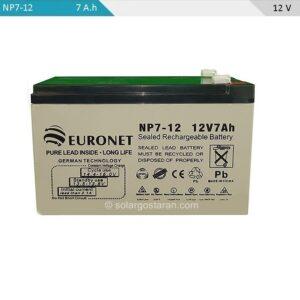 باتری 7 آمپر ساعت 12 ولت یو پی اس یورونت