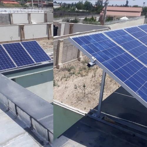 پروژه برق خورشیدی 5000 وات نمکلان